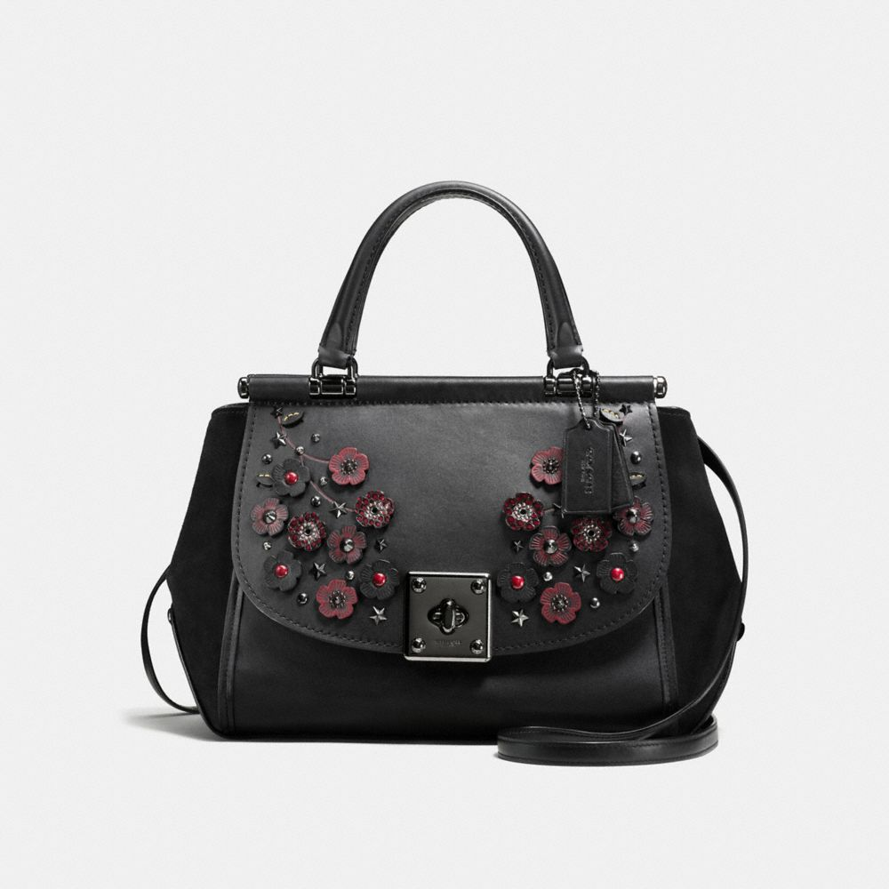DRIFTER CARRYALL IN GLOVETANNED LEATHER WITH WILLOW FLORAL DETAIL