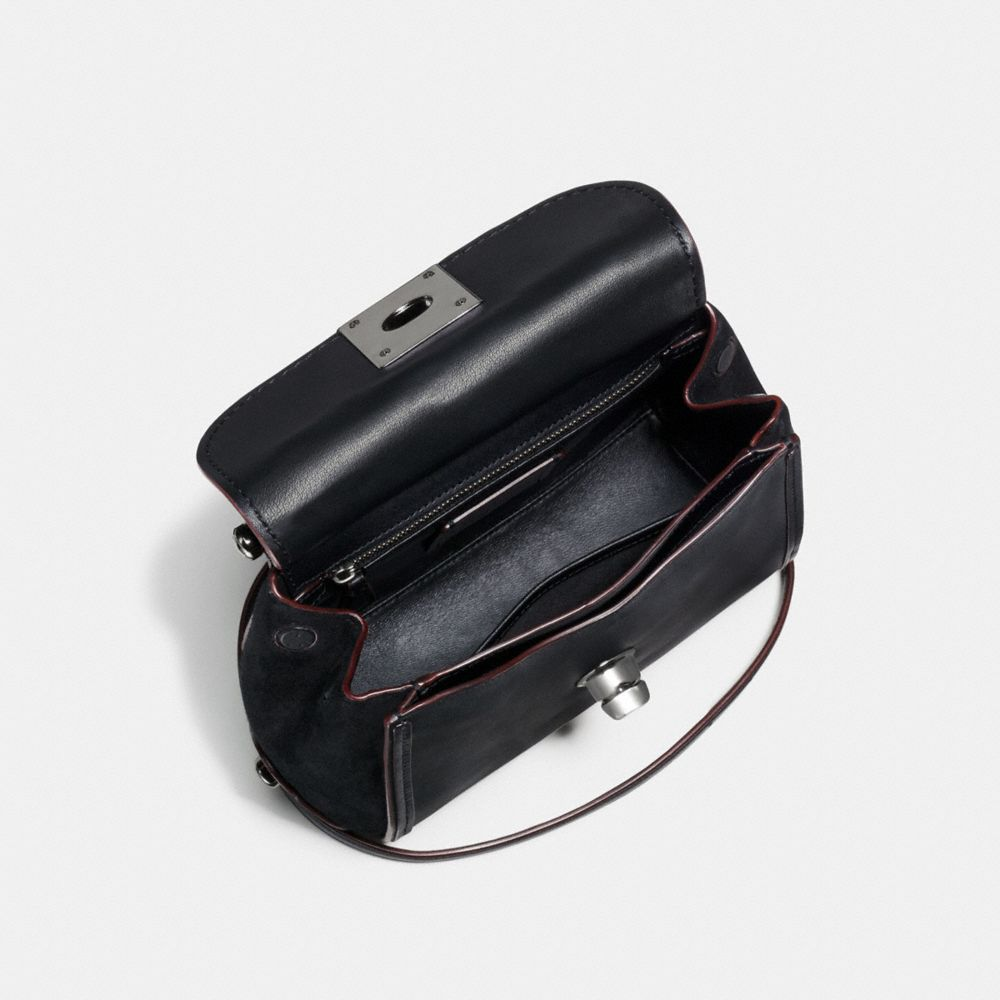 DRIFTER CROSSBODY IN GLOVETANNED LEATHER WITH WILLOW FLORAL - Alternate View