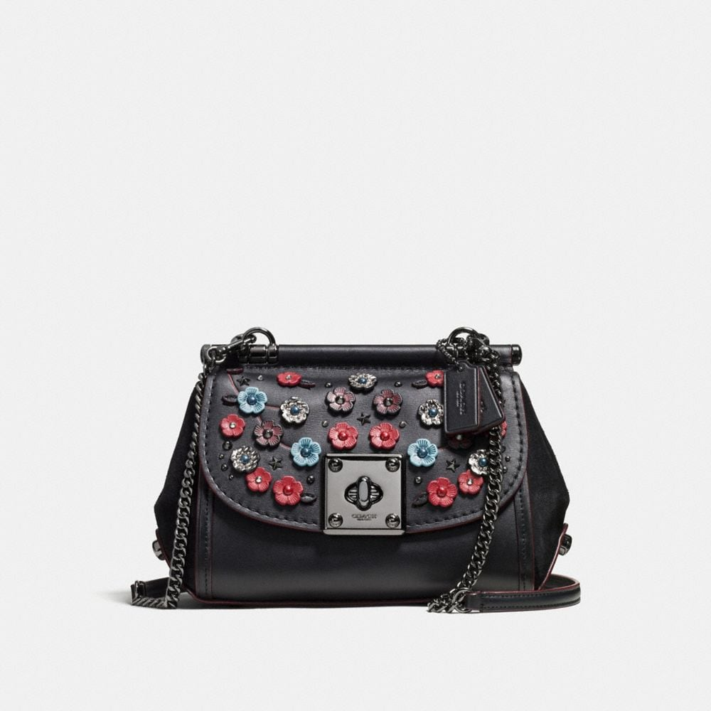 DRIFTER CROSSBODY IN GLOVETANNED LEATHER WITH WILLOW FLORAL