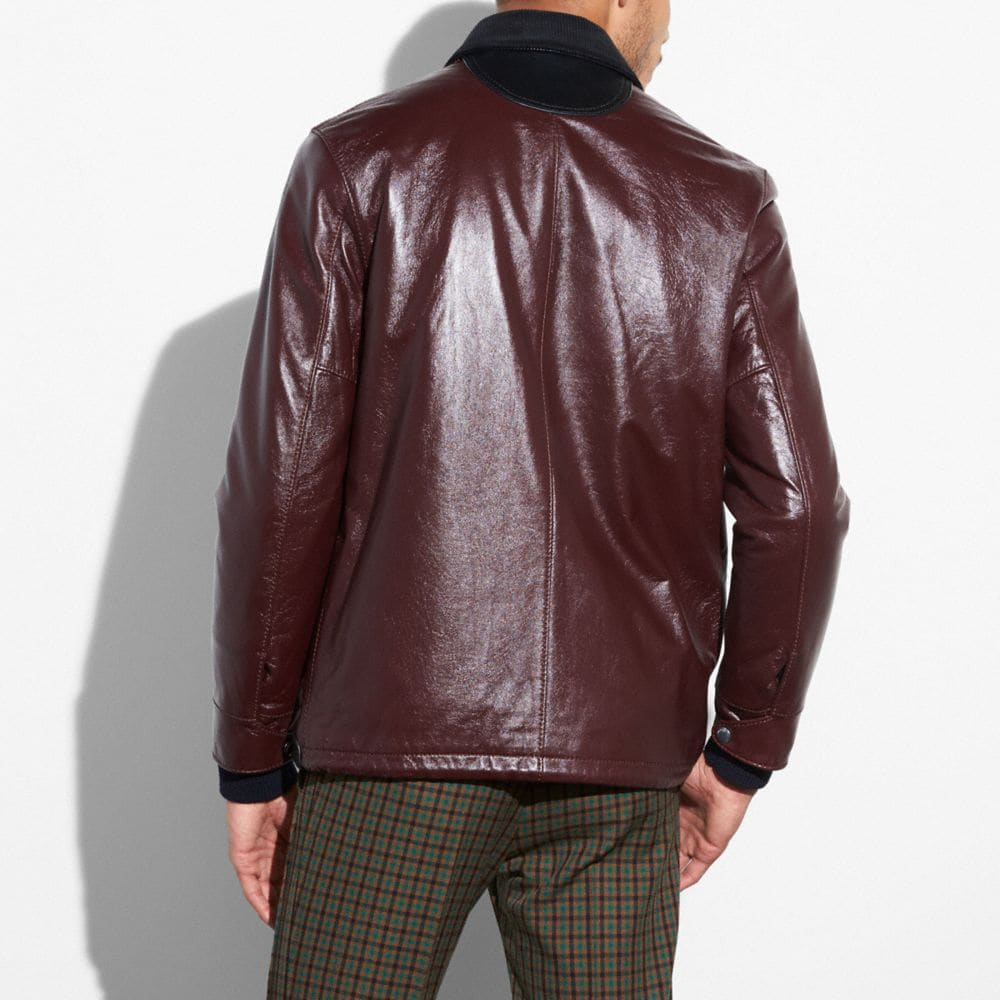 Coach Leather Coach Jacket Alternate View 2