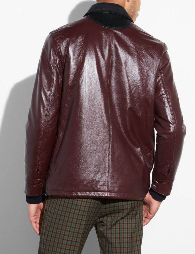 Coach Leather Coach Jacket Maroon Men Ready-to-Wear Outerwear Alternate View 2