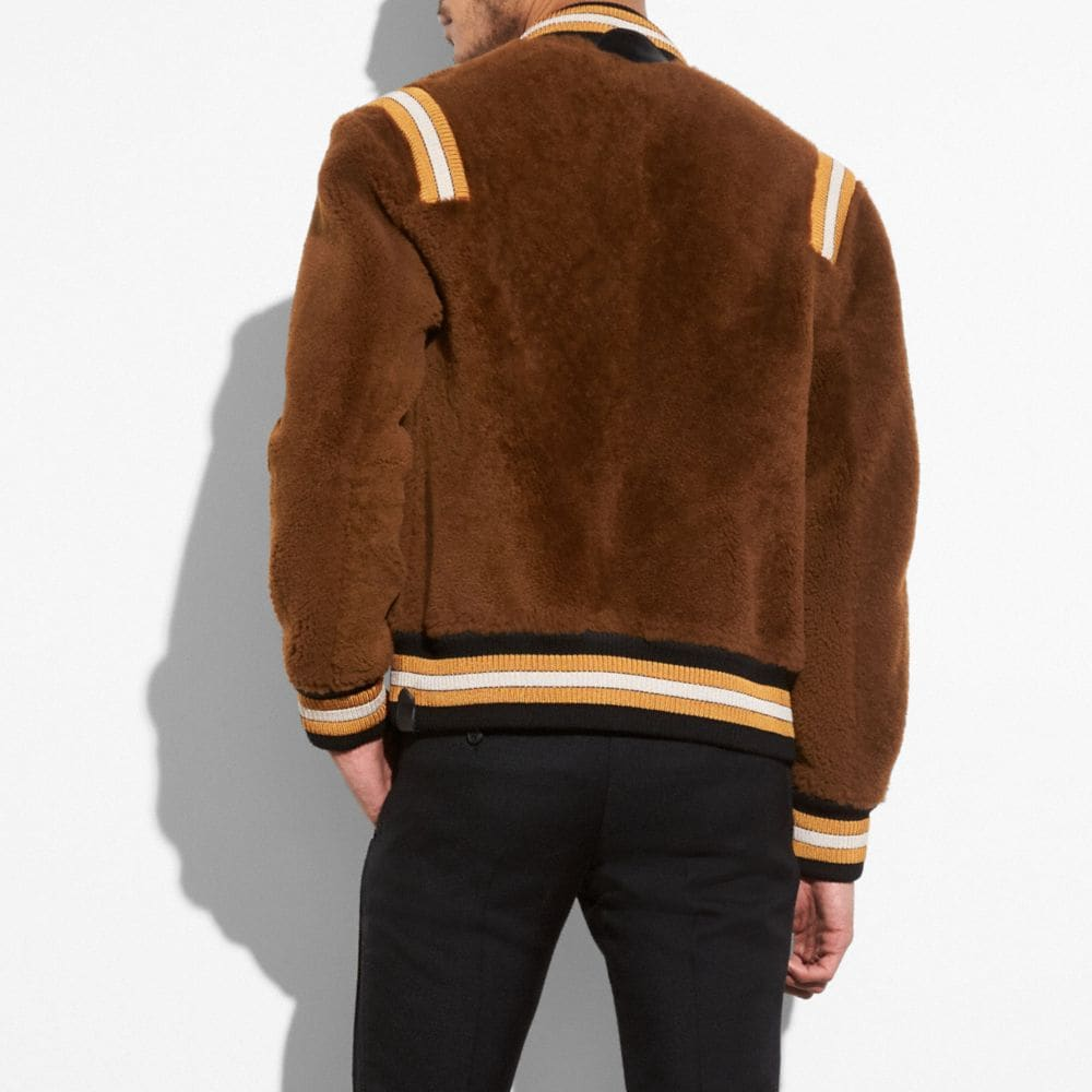 Coach Shearling Varsity Jacket Alternate View 2