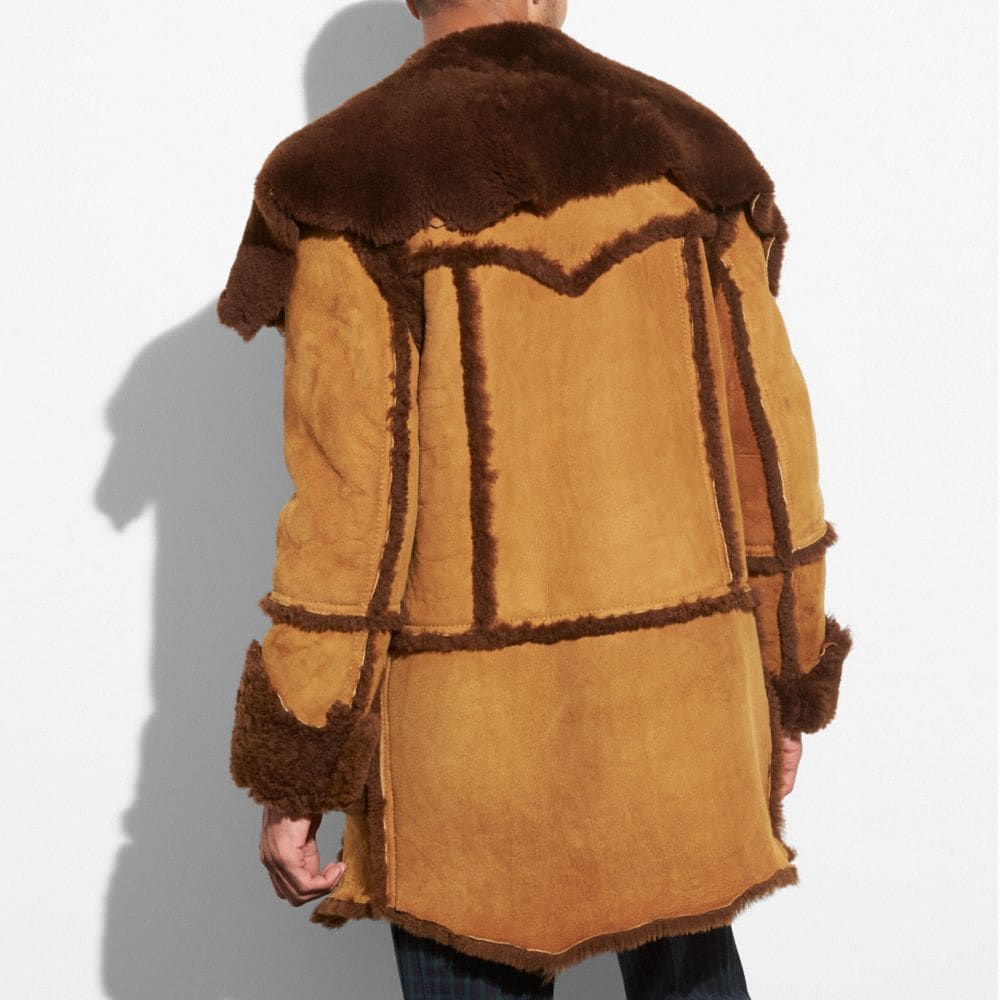Coach Shearling Coat Alternate View 2