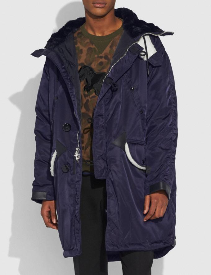 Coach Patch Parka Darkest Blue Men Ready-to-Wear Outerwear Alternate View 3