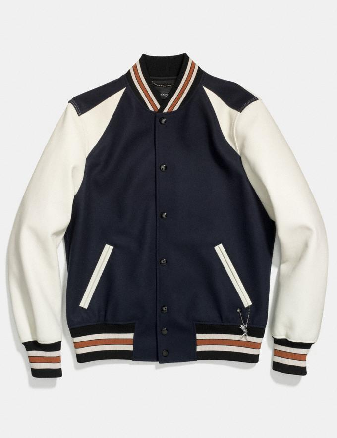 Coach Varsity Jacket Navy/Chalk SALE Men's Sale Ready-to-Wear