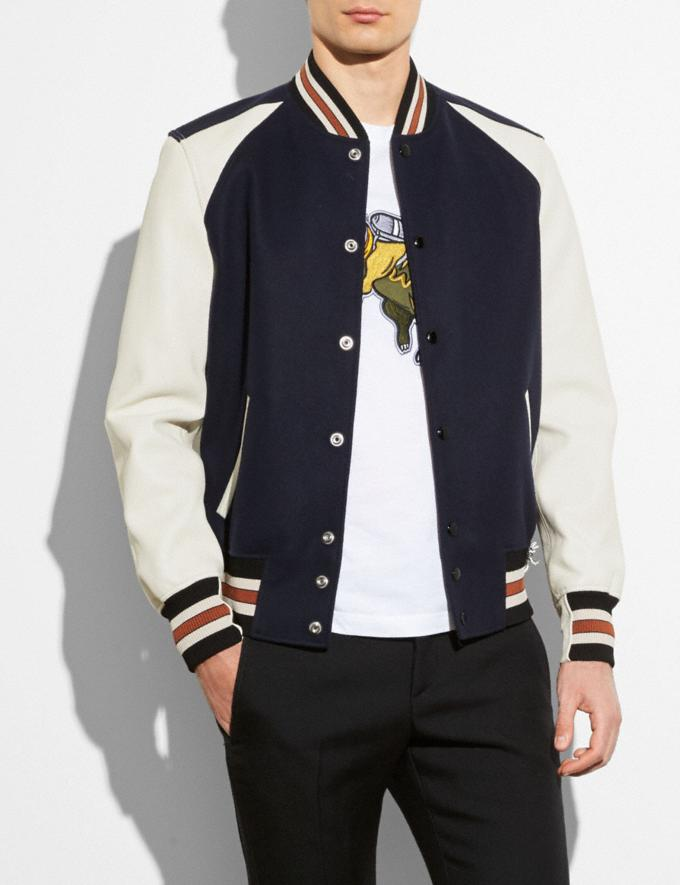 Coach Varsity Jacket Navy/Chalk SALE Men's Sale Ready-to-Wear Alternate View 1