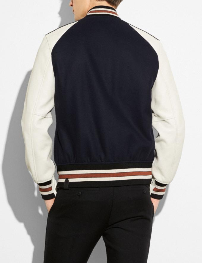 Coach Varsity Jacket Navy/Chalk SALE Men's Sale Ready-to-Wear Alternate View 2
