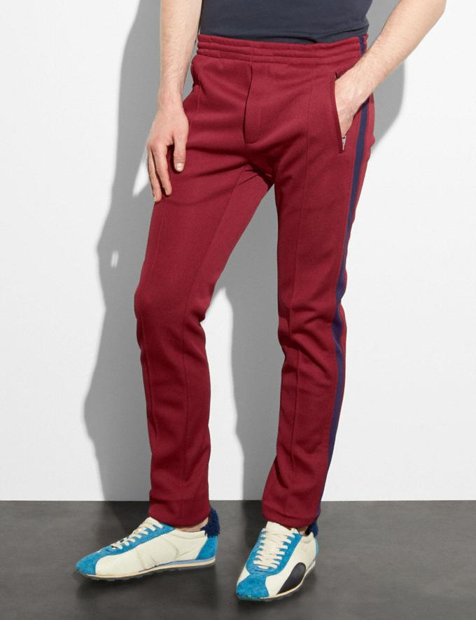 Coach Track Pants Wine SALE Men's Sale Further Reductions Further Reductions