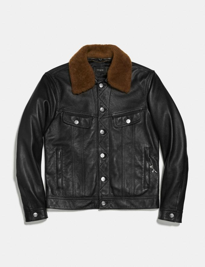 Coach Trucker Jacket Black