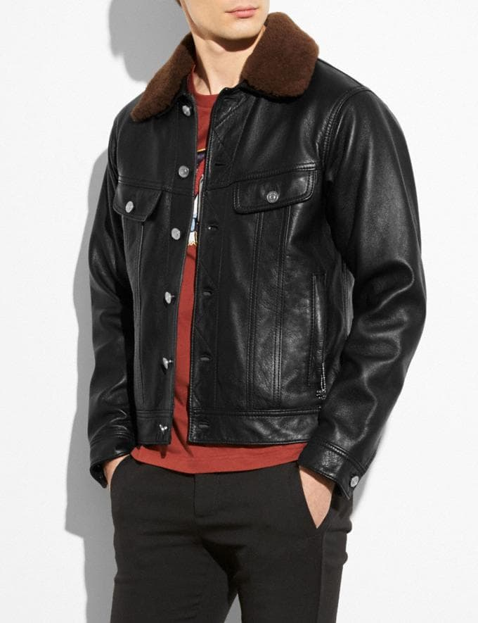 Coach Trucker Jacket Black  Alternate View 1