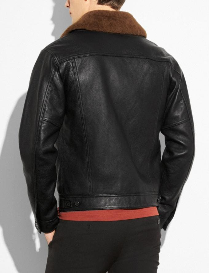 Coach Trucker Jacket Black  Alternate View 2