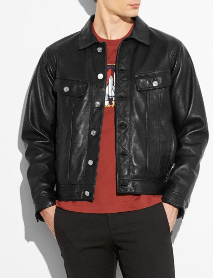 Coach Trucker Jacket Black  Alternate View 3