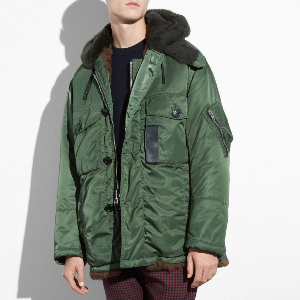 PARKA IN SHEARLING
