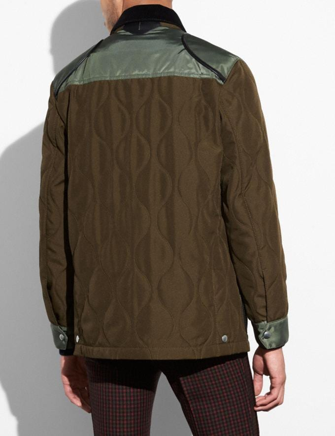 Coach Quilted Anorak Od Green SALE Men's Sale Ready-to-Wear Alternate View 2