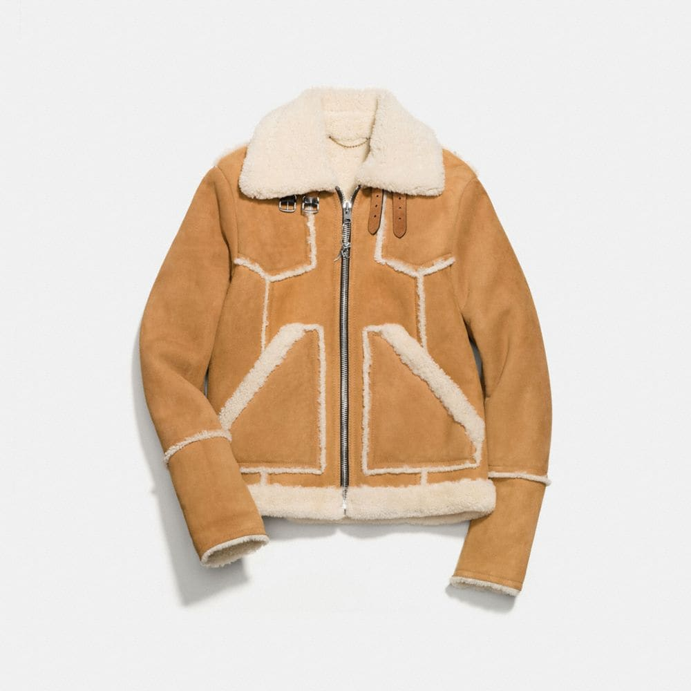 Coach Shearling Lumber Jacket