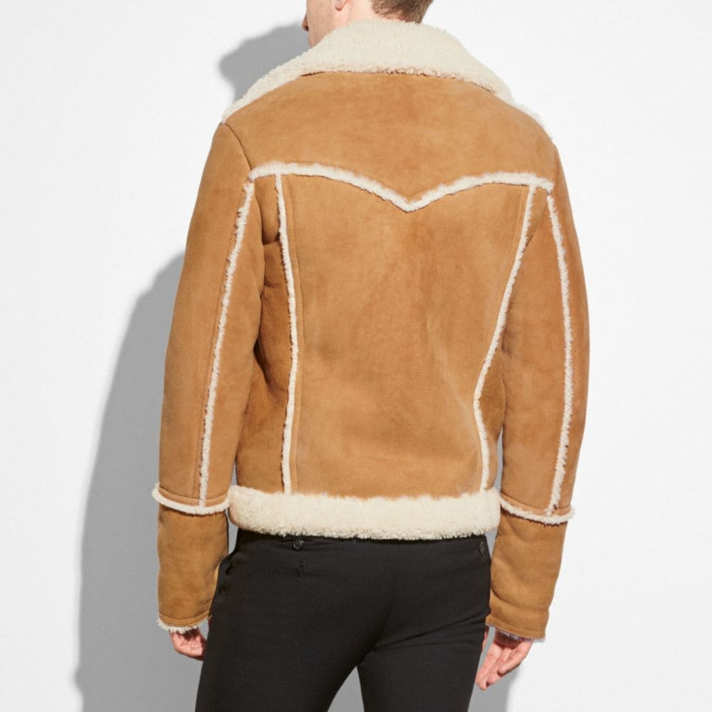 Coach Shearling Lumber Jacket Alternate View 2
