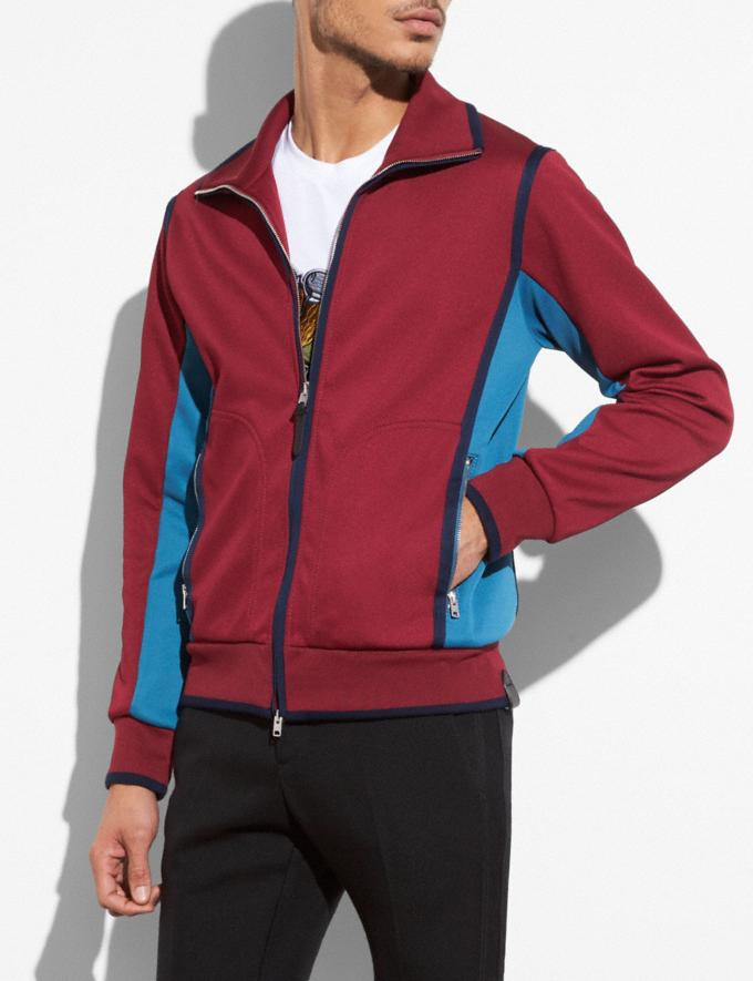 Coach Track Jacket Wine Men Ready-to-Wear Coats & Jackets