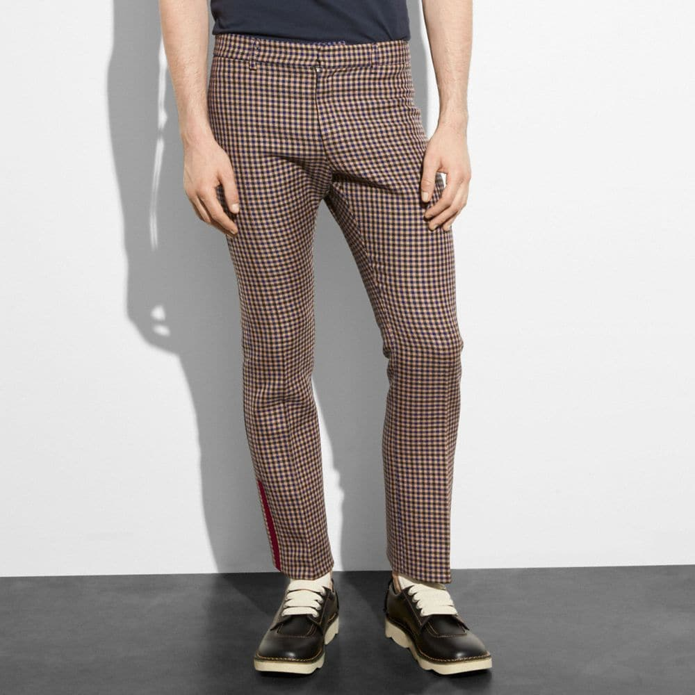 GINGHAM FLARE TROUSERS