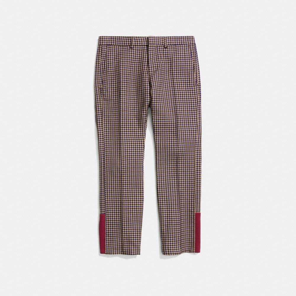 GINGHAM FLARE TROUSERS - Alternate View