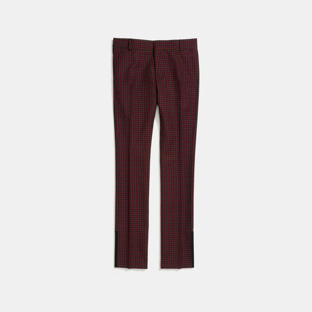 Coach Gingham Straight Leg Trousers Alternate View 1