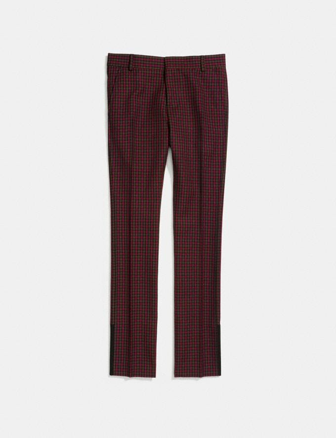 Coach Gingham Straight Leg Trousers Gingham Navy/Red  Alternate View 1