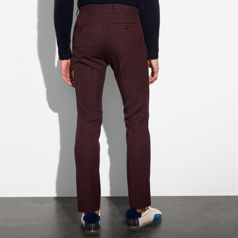 Coach Gingham Straight Leg Trousers Alternate View 2