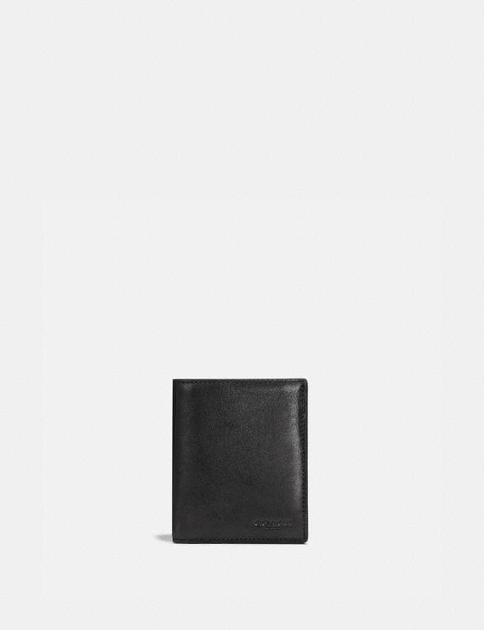 Coach Slim Coin Wallet Black Customization Personalize It Monogram for Him
