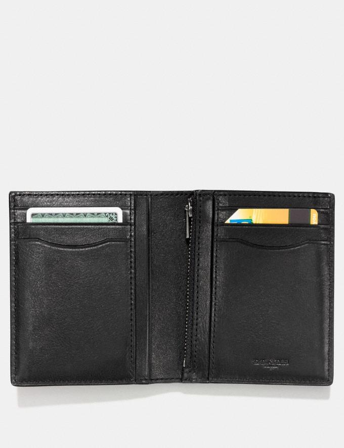 Coach Slim Coin Wallet Black Men Wallets Money Clips & Coin Cases Alternate View 1