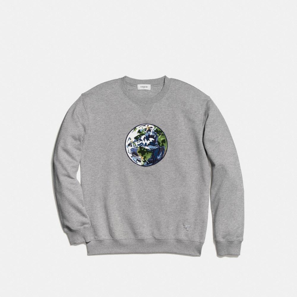 Unisex Planet Earth Sweatshirt - Visualizzazione alternativa A1