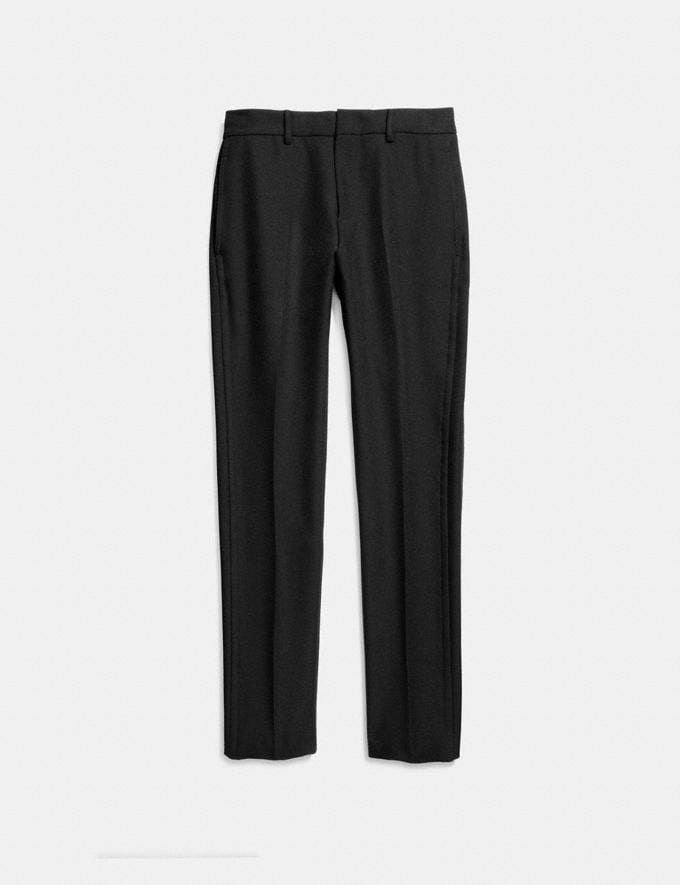 Coach Straight Leg Trousers Black  Alternate View 1