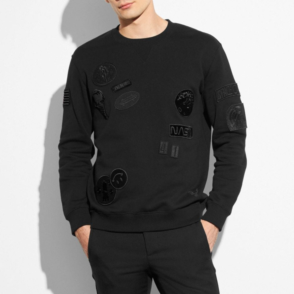 SWEATSHIRT WITH SPACE PATCHES