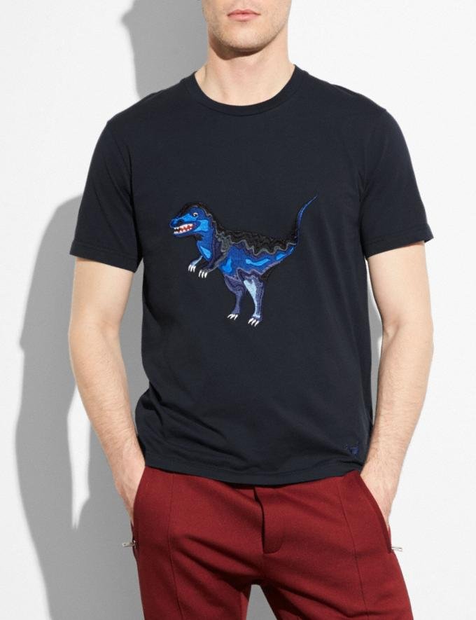 Coach Embroidered Rexy T-Shirt Navy