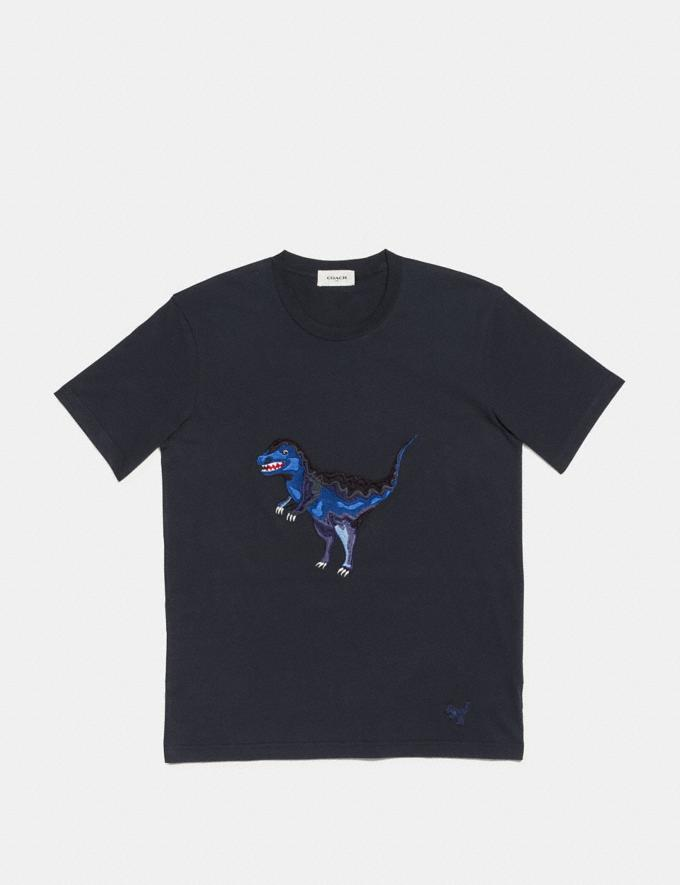 Coach Embroidered Rexy T-Shirt Navy  Alternate View 1