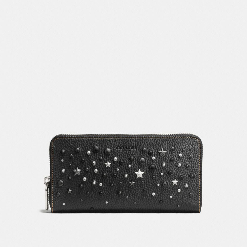 ACCORDION WALLET WITH MIXED STUDS