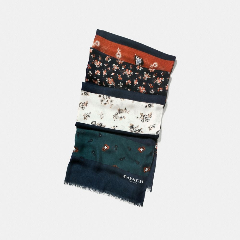 Coach Punk Roses and Feather Patchwork Oblong