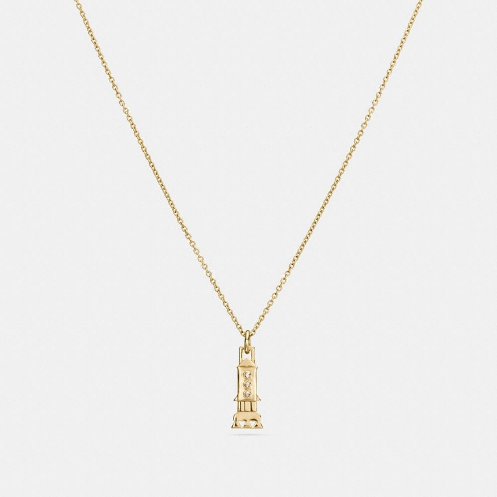 Coach Mini 18k Gold Plated Rocket Necklace