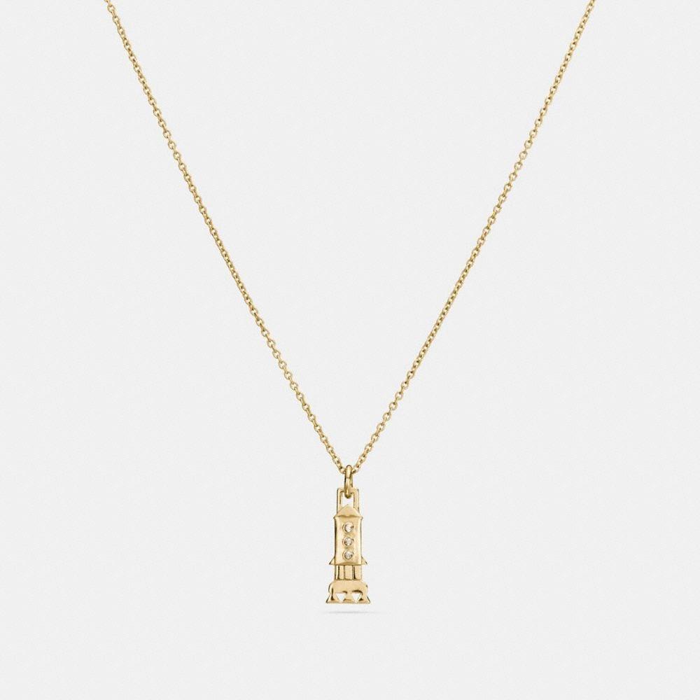 Coach Mini Demi-Fine Rocket Necklace