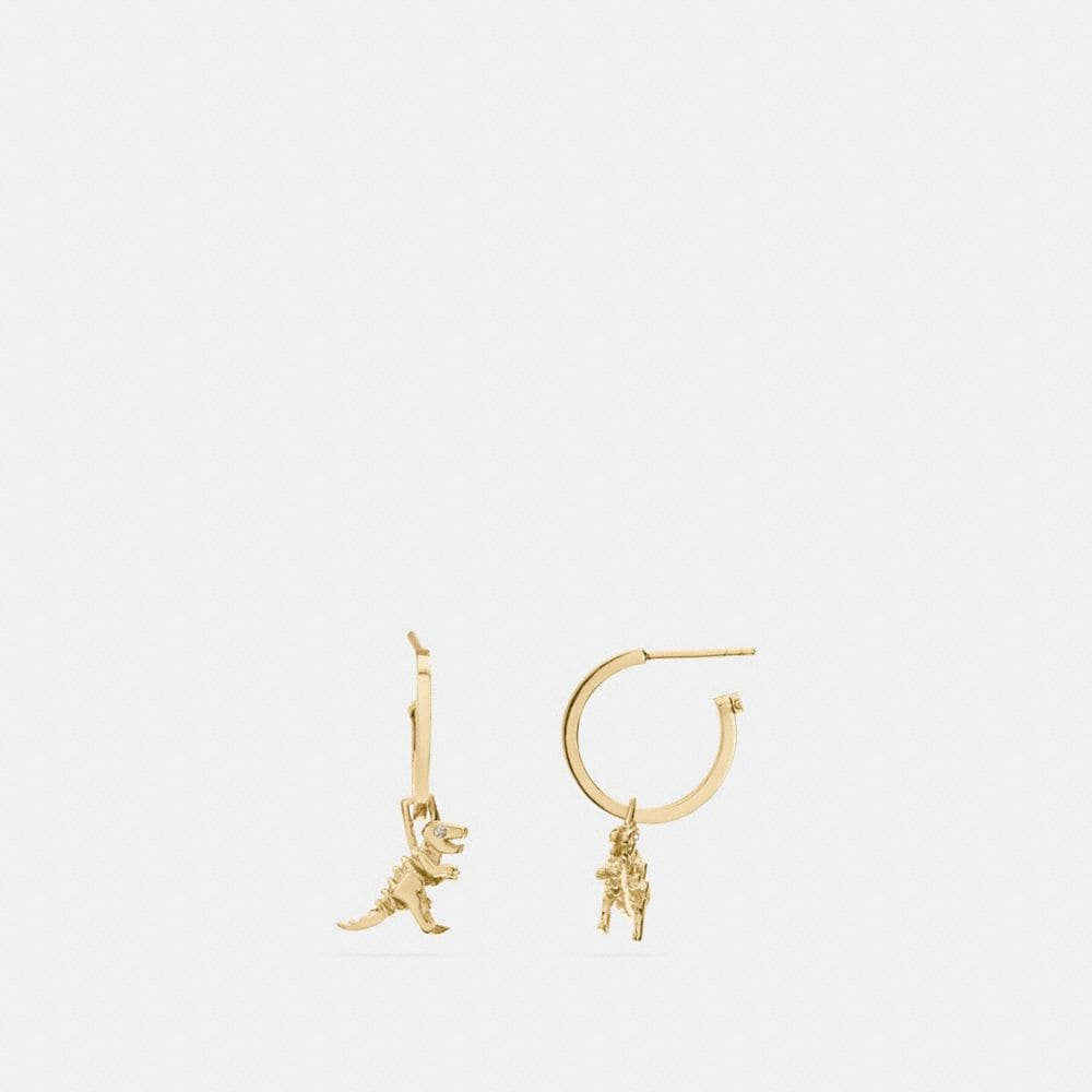 coach jewelry outlet mb4m  MINI REXY CHARM HOOP EARRINGS