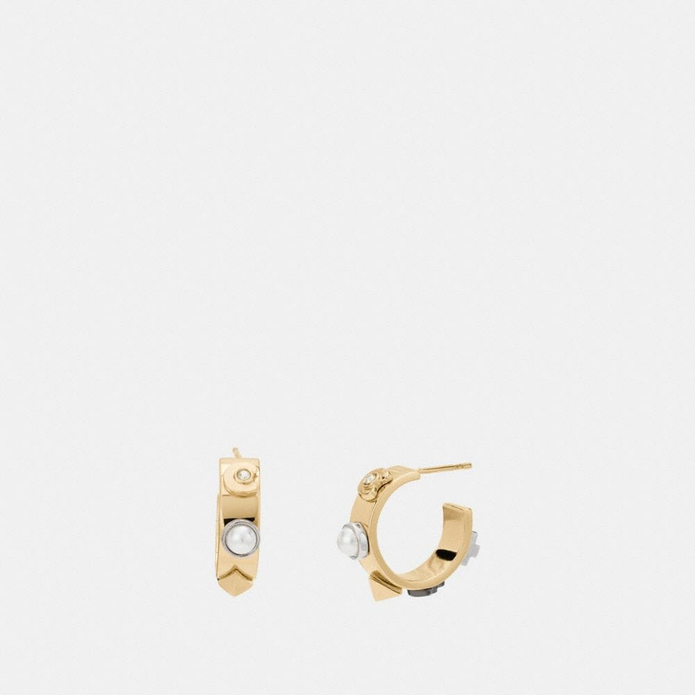 COACH DECO HOOP EARRINGS
