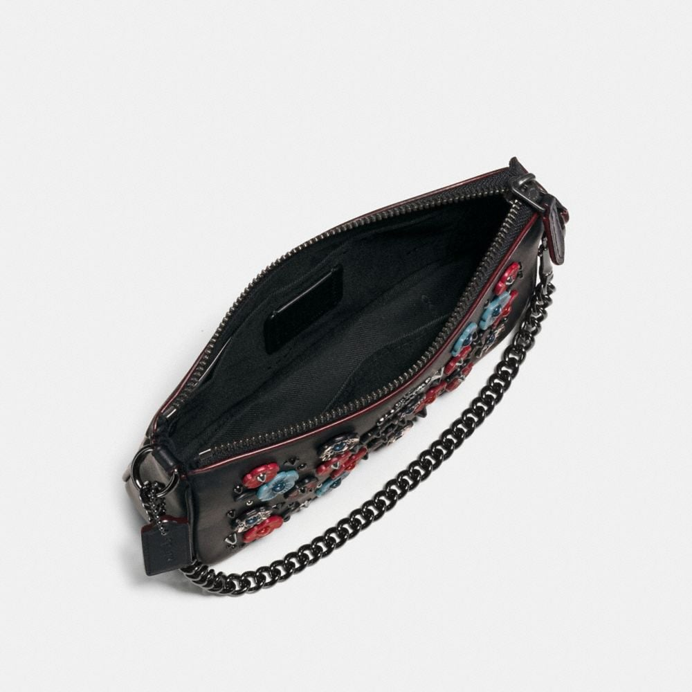 Nolita Wristlet 19 in Glovetanned Leather With Willow Floral - Alternate View A1