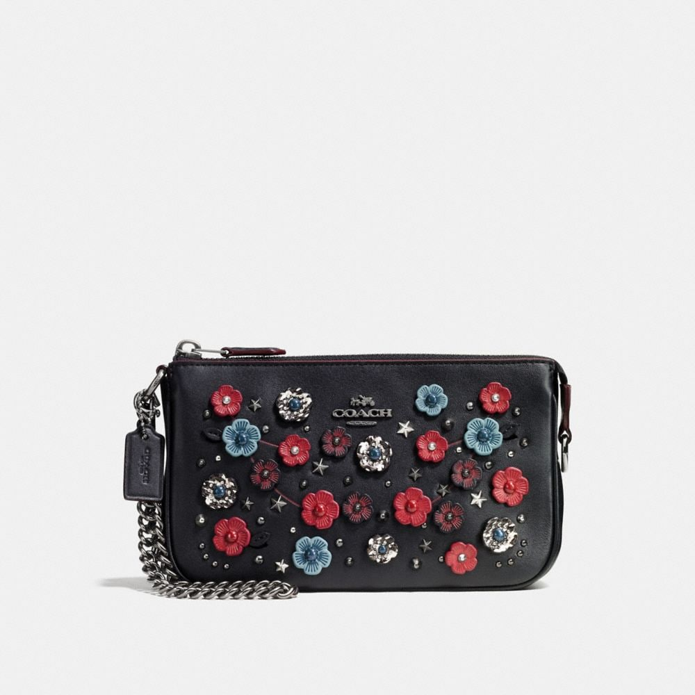 Coach Nolita Wristlet 19 With Willow Floral and Snakeskin Detail