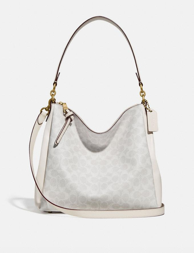 Coach Shay Shoulder Bag in Signature Canvas B4/Chalk Chalk Women Handbags Shoulder Bags & Hobos
