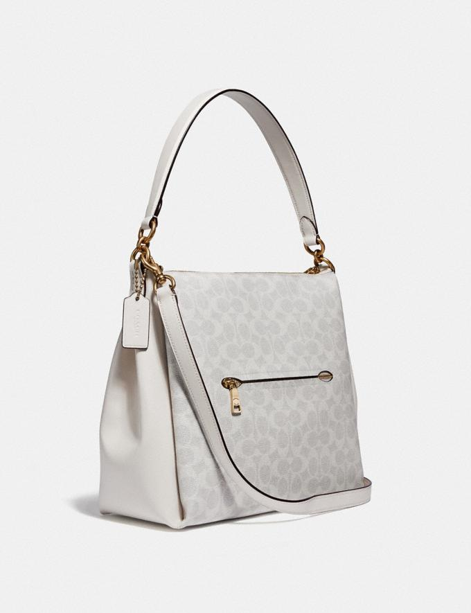 Coach Shay Shoulder Bag in Signature Canvas B4/Chalk Chalk Women Handbags Shoulder Bags & Hobos Alternate View 1