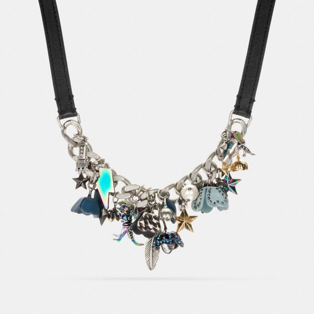 Coach Clustered Coach Charms Statement Necklace