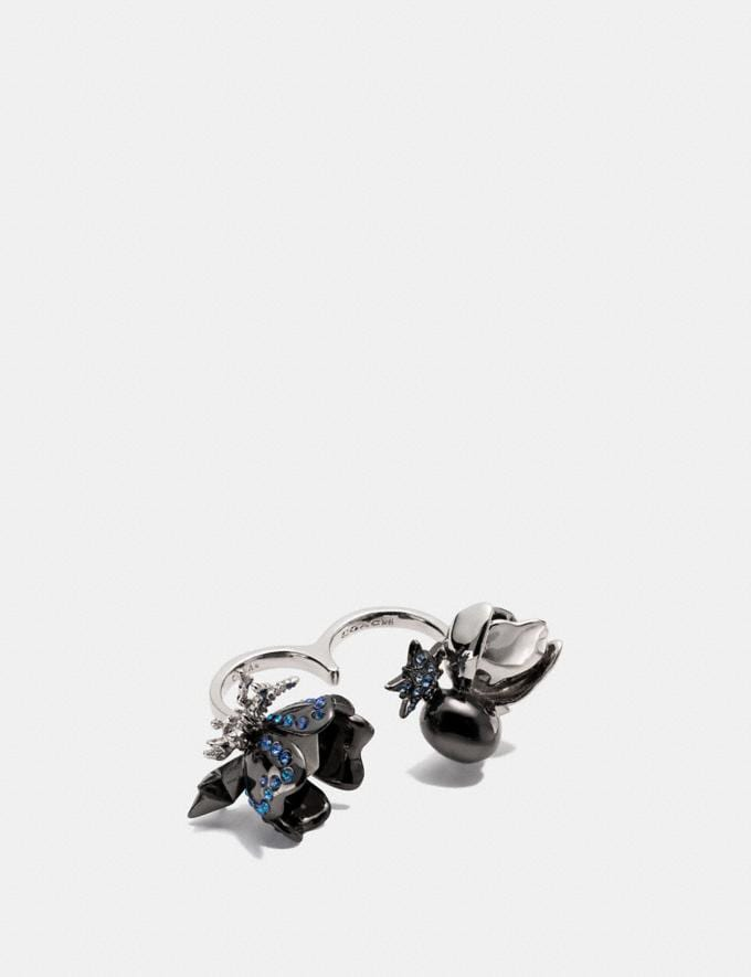 Coach Clustered Coach Charms Duster Ring Multicolor/Black