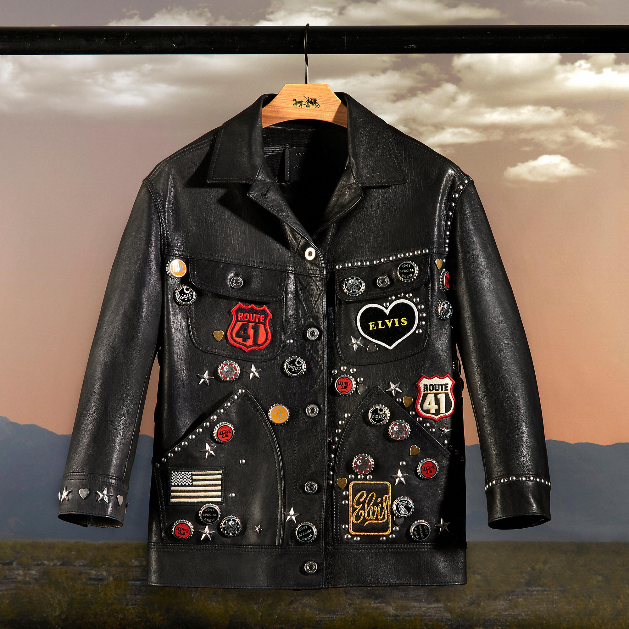 Coach One-OF-a-Kind Customized Leather Jacket