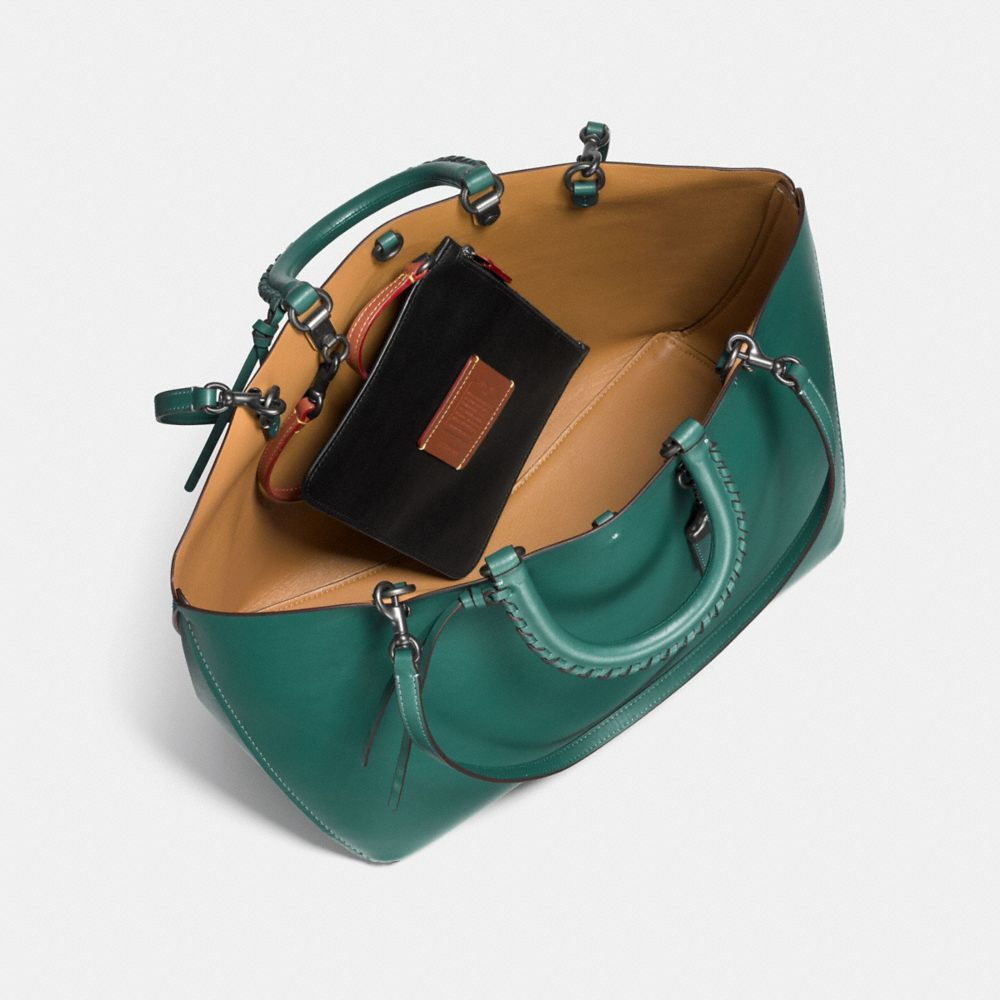 Rogue Tote With Embellished Handle in Glove Calf - Alternate View A3