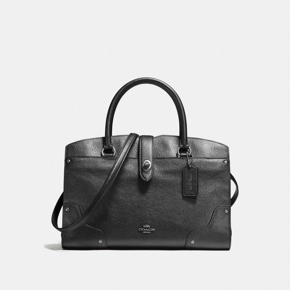 MERCER SATCHEL 30 IN METALLIC LEATHER