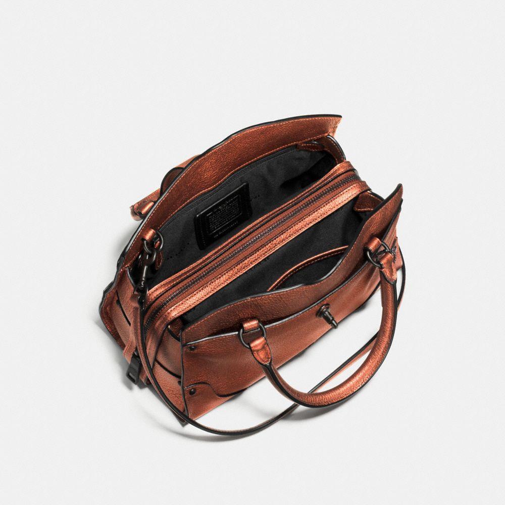 Mercer Satchel 24 in Metallic Leather - Alternate View A2