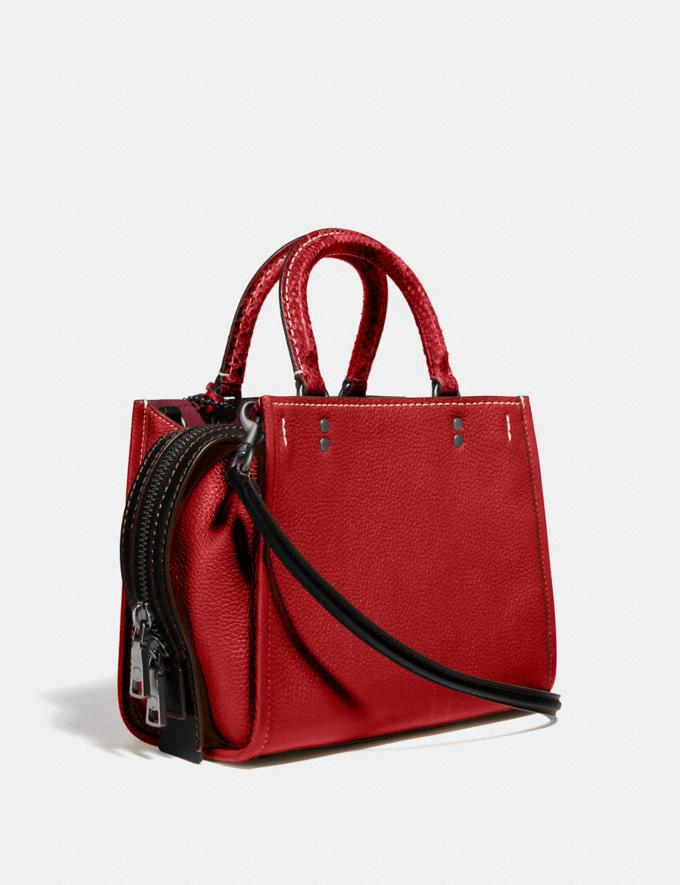 Coach Rogue 25 With Snakeskin Detail Black Copper/1941 Red Women Collection Rogue Alternate View 1